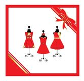 Dresses on a mannequin Royalty Free Stock Photos