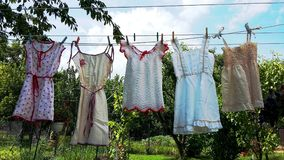 Dresses of my childhood Stock Image