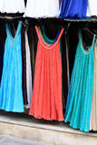Dresses at outdoor market Stock Photo