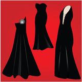 Dresses for parties. Dresses for a special party Royalty Free Stock Photos