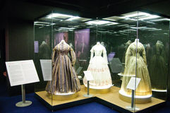 Dresses and photographs from 1890 to 1950 Royalty Free Stock Image