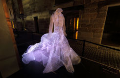 The Dresses in The Rocks at Vivid Sydney Royalty Free Stock Photos