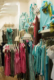 Dresses for sale in  store Royalty Free Stock Photography