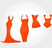 Dresses silhouette Stock Photos