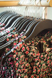 Dresses in the store Stock Image