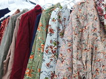 Dresses for street sale Stock Image
