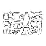 Dresses, vector illustration Royalty Free Stock Photos