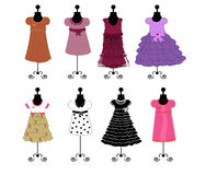 Dresses vector illustrqtion Royalty Free Stock Image