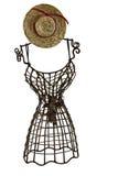 dressform帽子秸杆 免版税图库摄影