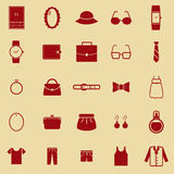 Dressing color icons on brown background Stock Image