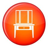 Dressing console, pier-glass icon, flat style Stock Photos