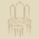 Dressing console. Royalty Free Stock Images