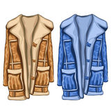 Dressing gowns in two colors, blue and brown Royalty Free Stock Images