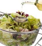 Dressing Green Salad Stock Image