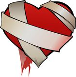 Dressing heart Stock Image