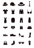 Dressing icons Stock Photo