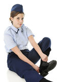 Dressing for Jr. ROTC Royalty Free Stock Photography