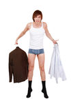 Dressing man Stock Images