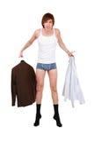 Dressing man Stock Images