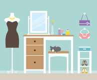 Dressing Room. Illustration of a dressing room vector illustration
