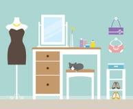 Dressing Room. Illustration of a dressing room Stock Photos