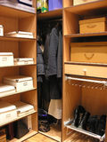 Dressing room 2. Shoes boxes Royalty Free Stock Images