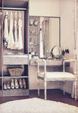Dressing room with classic white chair and dressing table Royalty Free Stock Photography