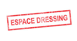 Dressing room in French translation in red rectangular stamp Royalty Free Stock Photography
