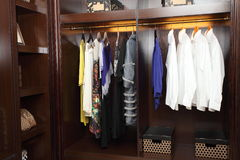 Dressing room. Large dressing room & full of dress Royalty Free Stock Photography