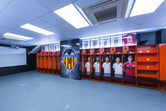 Dressing Room at Mestalla Stock Images