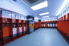 Dressing Room at Mestalla Stock Photo