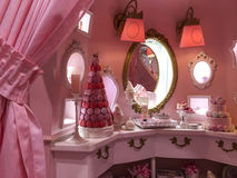 Dressing room. With the pink princess theme Royalty Free Stock Images