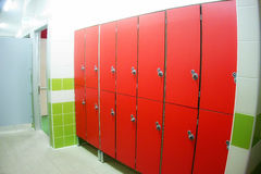 Dressing Room Red Locker Lockers Royalty Free Stock Photos