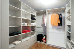 Dressing room. With some clothes inside Stock Photo