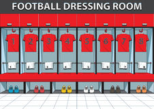 Dressing rooms team color vector illustration Royalty Free Stock Images