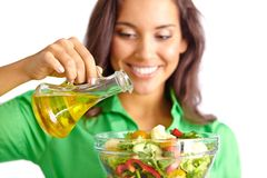 Dressing salad Royalty Free Stock Images