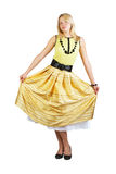 Dressing in the skirt Royalty Free Stock Images