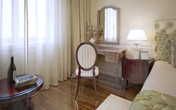 Dressing table in classic bedroom Stock Images