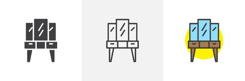 Dressing table different style icon royalty free illustration