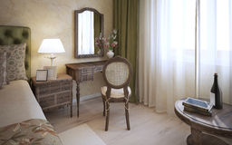 Dressing table in english bedroom Stock Image