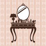 Dressing table. Stock Photo
