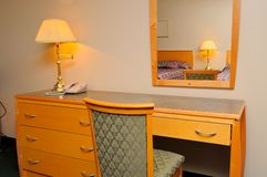 Dressing table and mirror Royalty Free Stock Photo