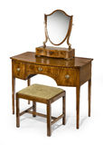 Dressing table mirror and stool set antique and vintage Royalty Free Stock Photo