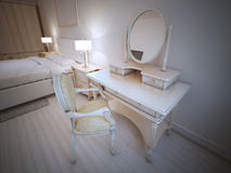 Dressing table in provence bedroom Royalty Free Stock Images