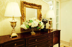 Free Dressing Table With Lamp Stock Photography - 56681102