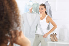 Dressing, women shopping Royalty Free Stock Photo