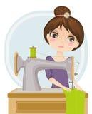 Dressmaker. Vector illustration of a dressmaker at work Royalty Free Stock Photos