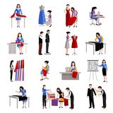 Dressmaker Icons Set Royalty Free Stock Photo