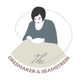Dressmaker logo. Vintage style design logo dressmaker Stock Image