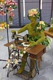 Dressmaker made of flower. Flower Decoration, Floraart 52. International Garden Exhibition, Zagreb, Croatia stock image